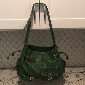 MAXX Green Leather Shoulder Bag